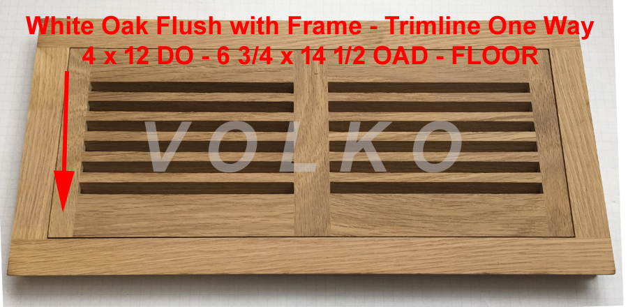 oak one directional floor vent