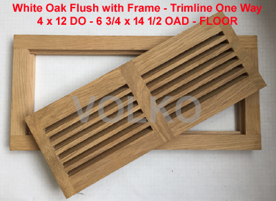 flush floor wood vent oak