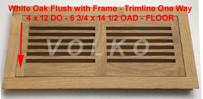 flush one directional oak vent