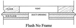 flush no frame wood vent sketch