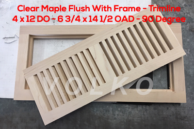 flush with frame trimline wood floor vent