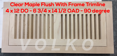 maple flush floor vent