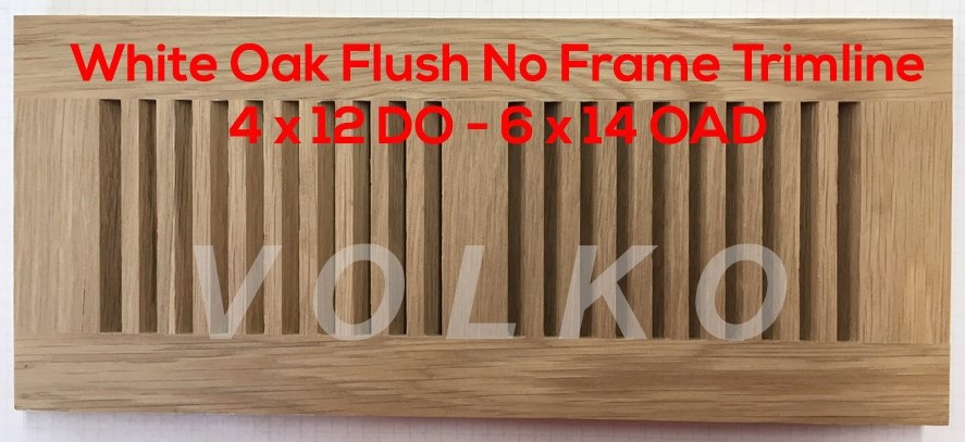 Volko Wood Vents And Grilles Trimline Flush Wood Floor Vents