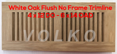 flush no frame oak vent