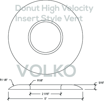 donut round high velocity wood vent