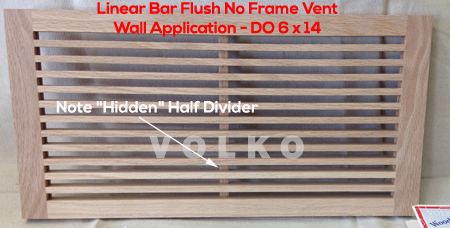 flush wood wall vent linear style