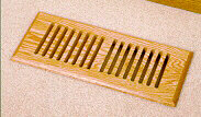 Volko wood floor vents & wood registers... solid block style grille, surface mount wood vents