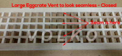large seamless eggcrate vent