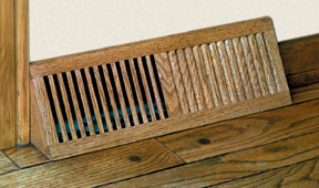 Volko Wood Vents And Grilles Basevents Oak Hvac Heat Vents Registers And Wood Grilles Selection