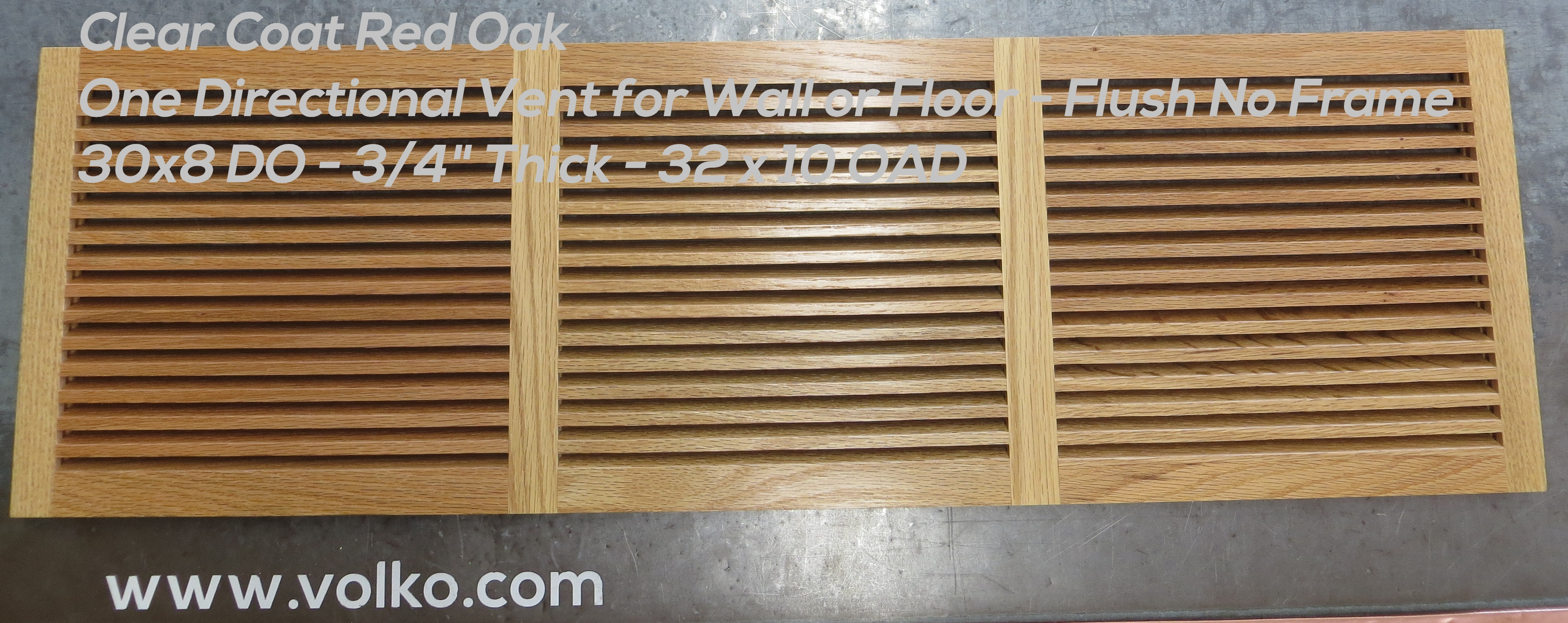 custom red oak wood vent