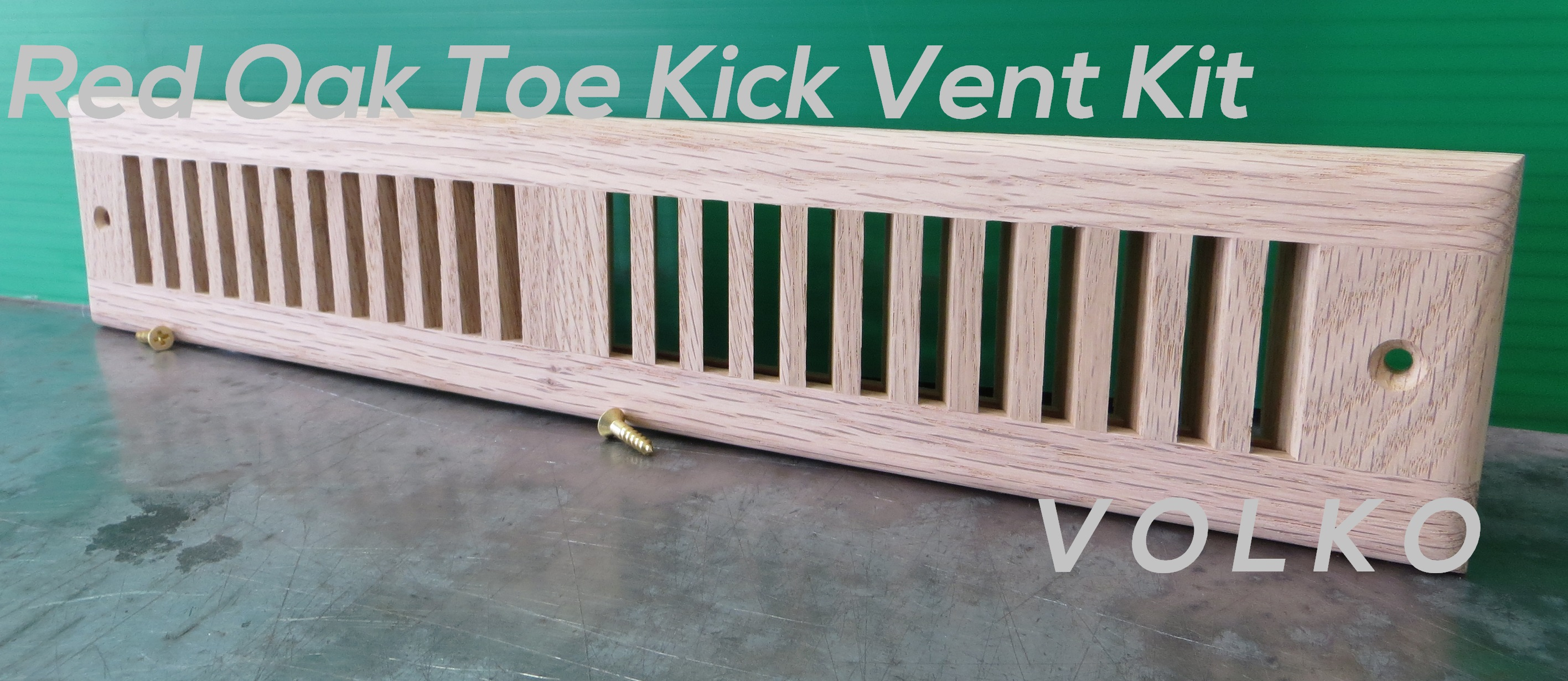 oak toe kick hvac register
