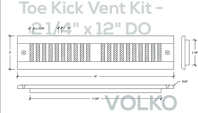 toe kick wood vent drawing schematic
