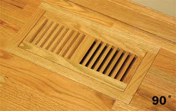 Volko Wood Vents And Grilles Trimline Flush Wood Floor