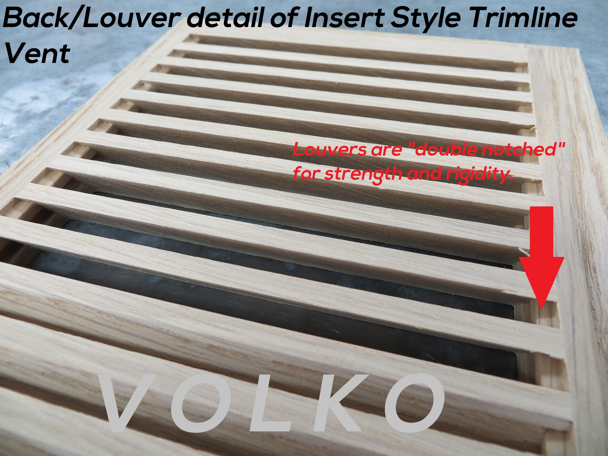 louver joint wood oak vent