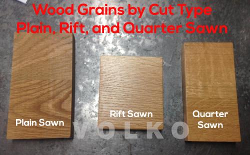 quarter sawn oak plain sawn oak rift sawn oak