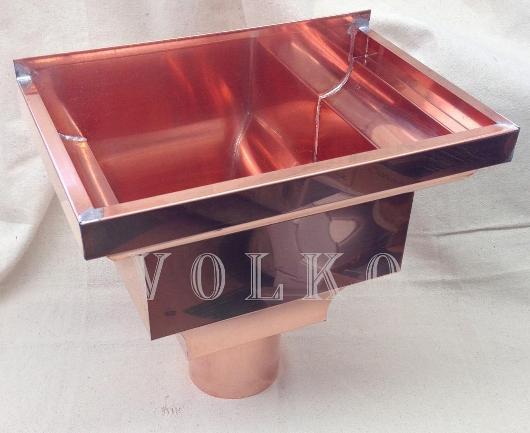 Scupper Box Conductor Head : Quot fancy copper leader head collector box scupper