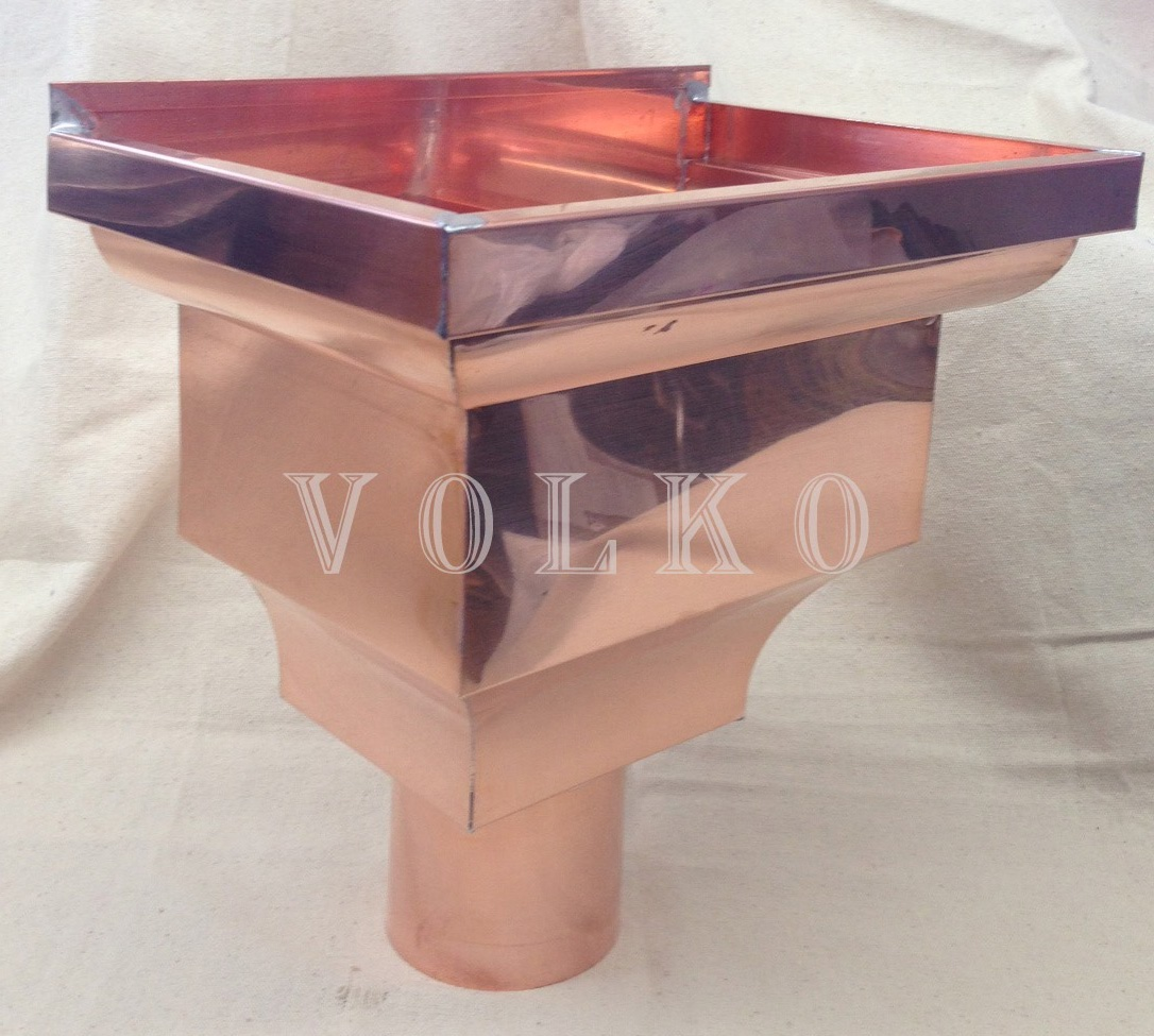 fancy copper leaderhead volko