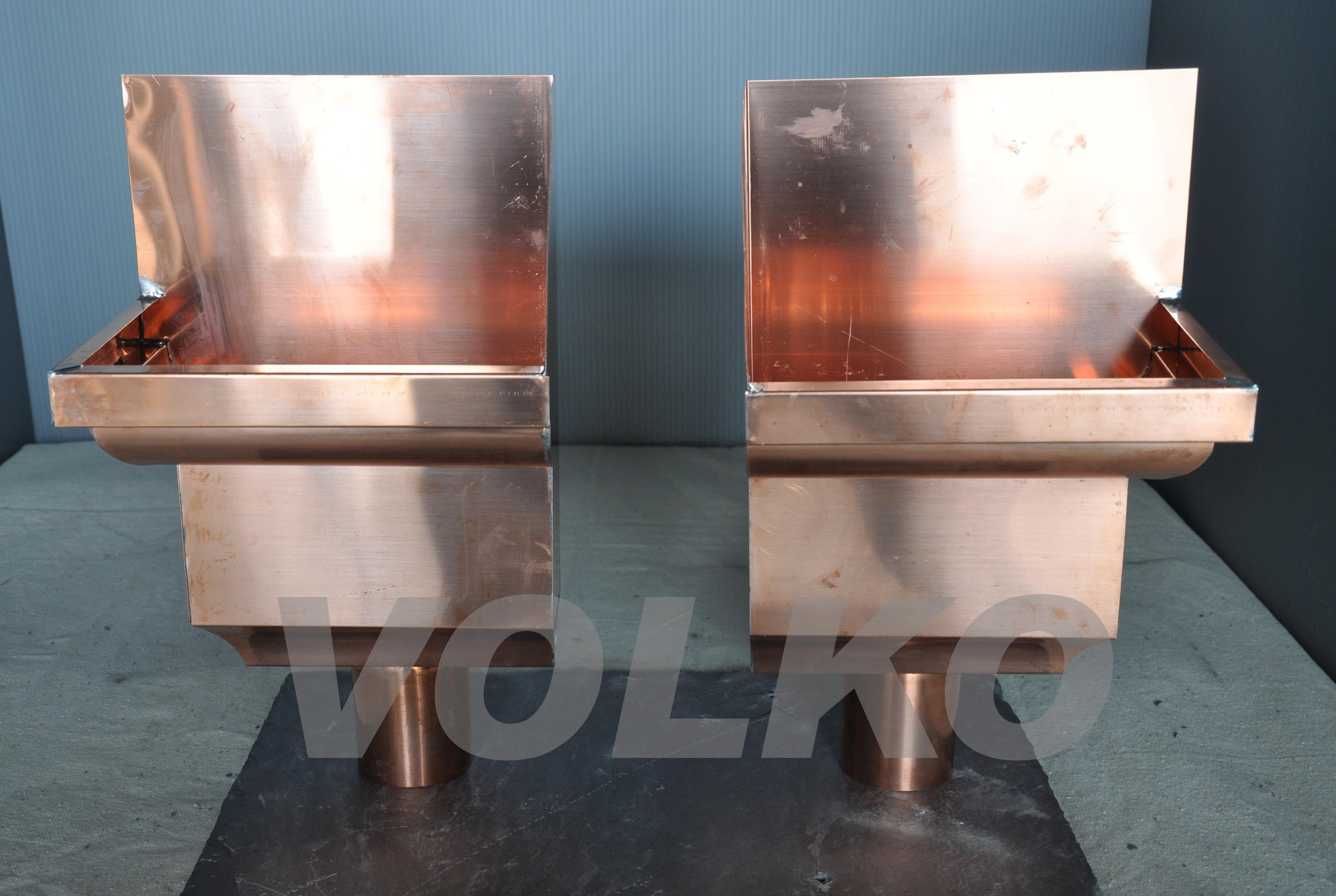 custom fancy copper scupper boxes