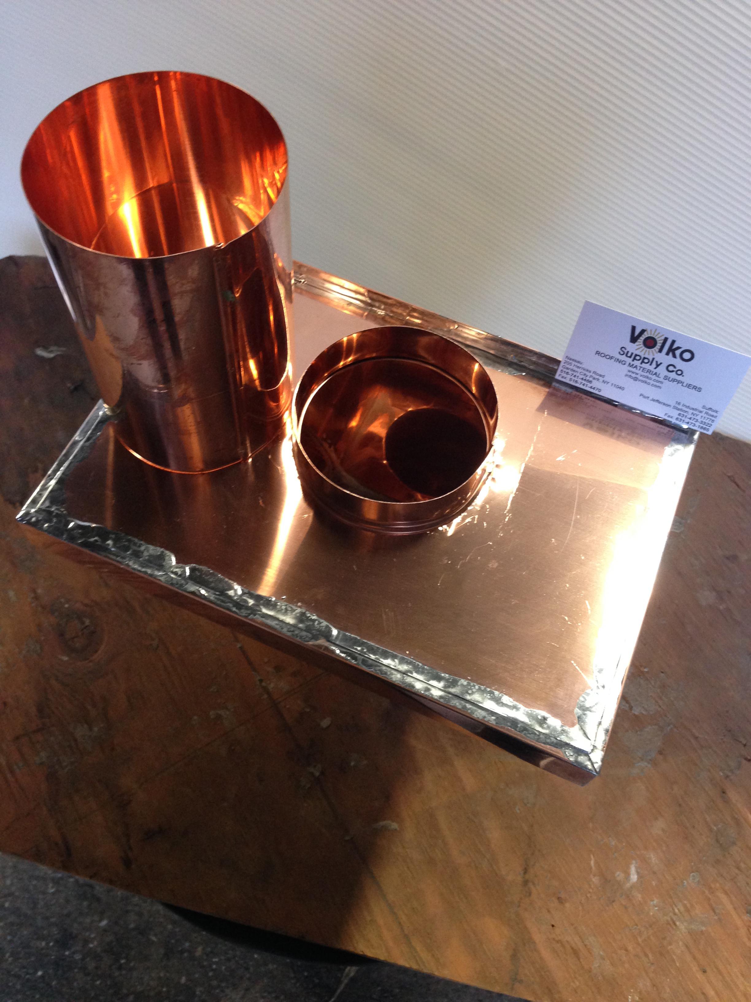 Scupper Box Conductor Head : Quot commercial copper leader head collector box scupper