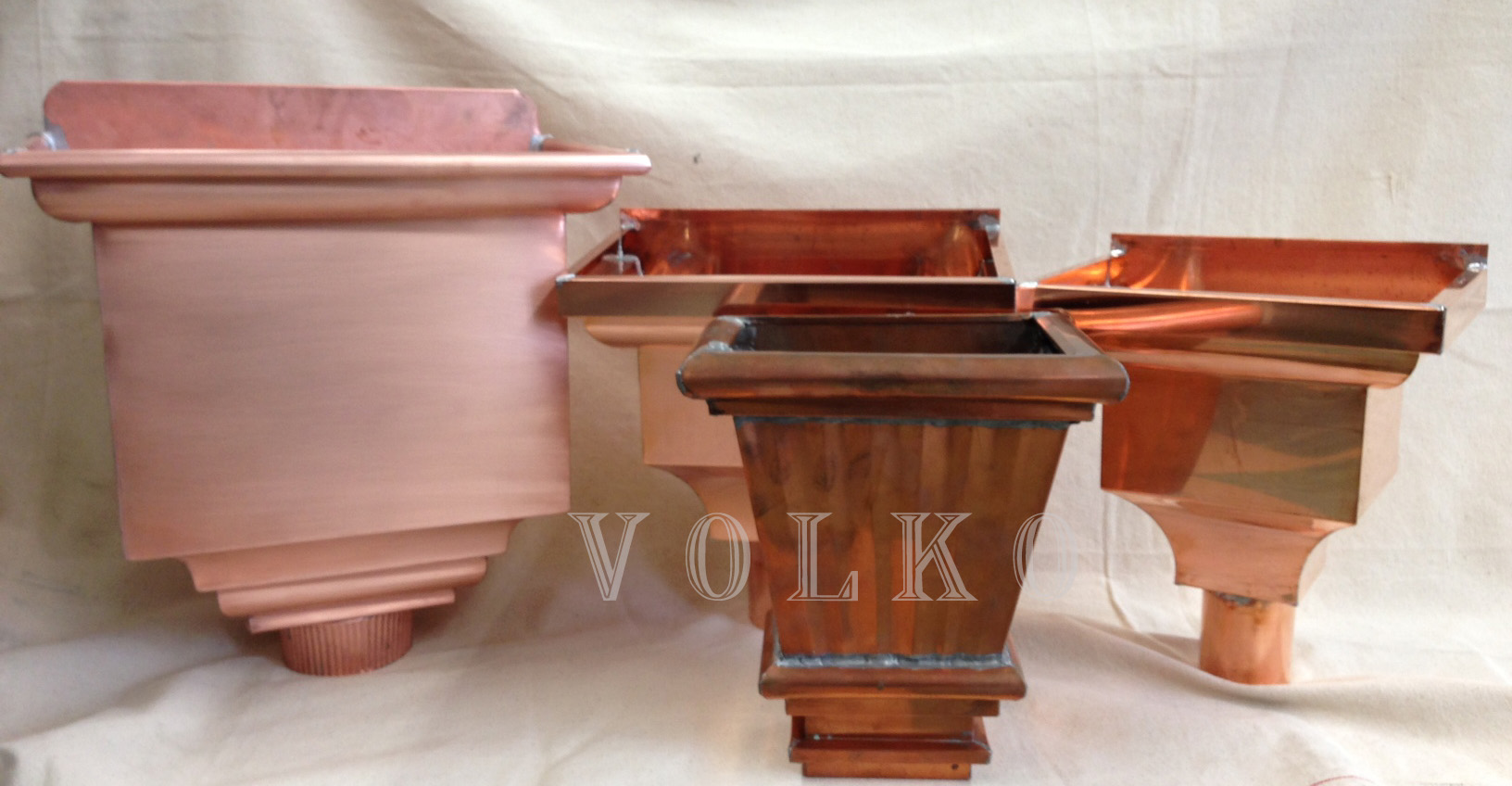 3 Quot Commercial Copper Leader Head Collector Box Scupper