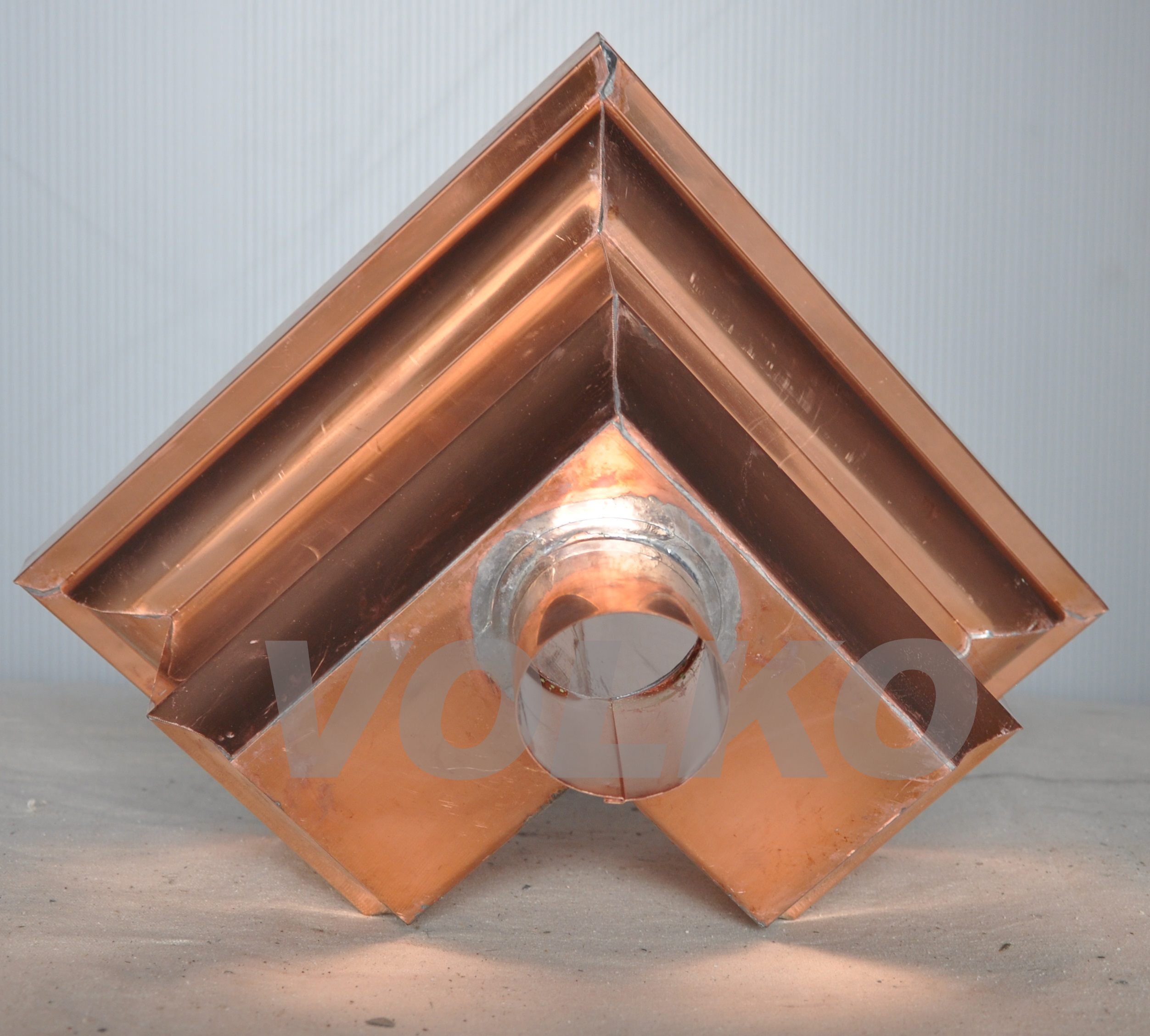 copper mitre leaderhead bottom
