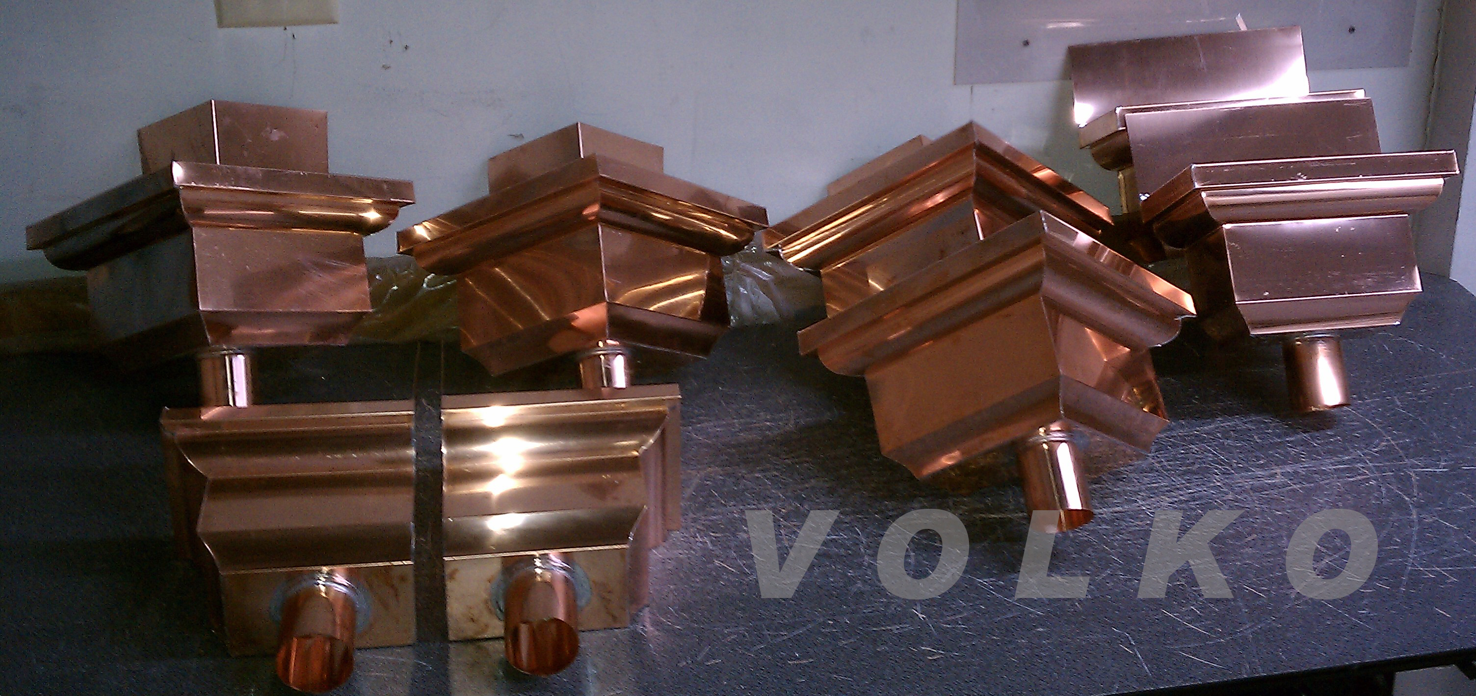 custom fancy copper leader heads
