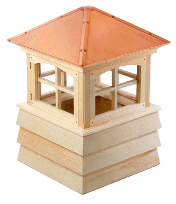 plymouth cupola...hip style copper roof and shiplap base