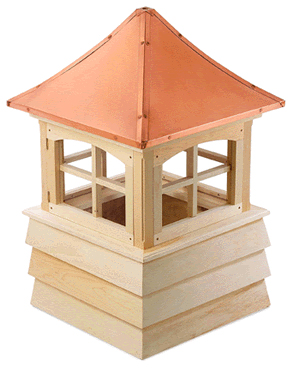 guilford cupola...pagoda style copper roof and shiplap base