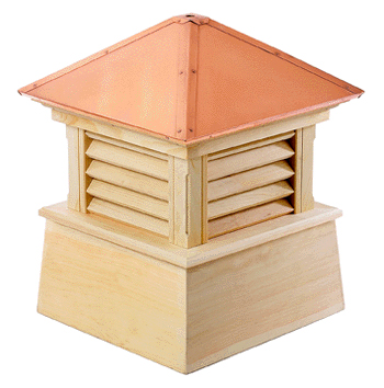 manchester cupola...hip style copper roof and smooth wood base