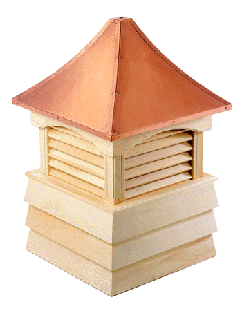 sherwood cupola...pagoda style copper roof and shiplap wood base