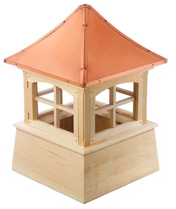 windsor cupola...pagoda style copper roof and smooth base