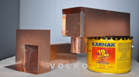 copper scupper copper leaderbox